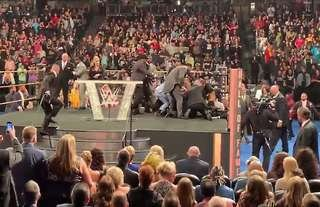 The WWE fan that attacked Hart was quickly dealt with