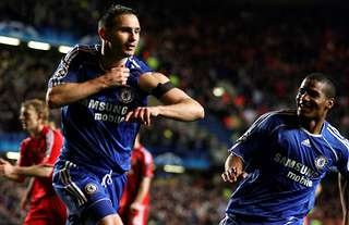 Frank Lampard's penalty saw Chelsea on their way to the Champions League final