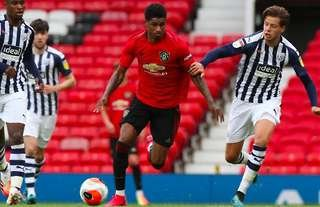 Rashford in action vs West Brom