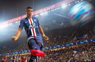 Kylian Mbappe in action on FIFA 21