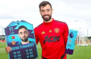 Bruno Fernandes was voted the Premier League Player of the Month