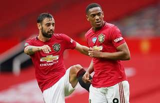 Bruno Fernandes and Anthony Martial both miss out on top spot