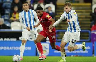 Emile Smith Rowe in action for Huddersfield