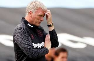 West Ham manager Moyes during the friendly defeat to Bournemouth.