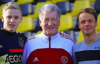 Donny van de Beek and his mentor, Harm Grevink