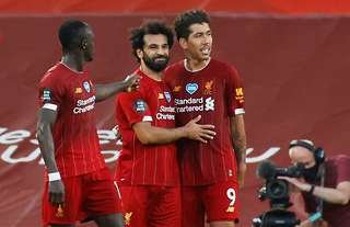 Liverpool's famous front three of Sadio Mane, Mohamed Salah & Roberto Firmino