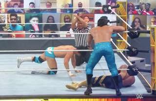 The WWE match ended with an 'X'