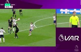 Football fans couldn't believe this was given as a handball by Eric Dier