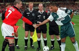 Manchester United and Liverpool legends Eric Cantona and John Barnes