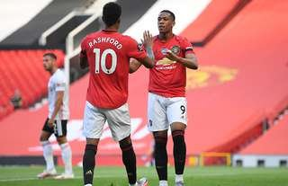 Marcus Rashford and Anthony Martial feature in the PL' most overpowered XI on FIFA 21