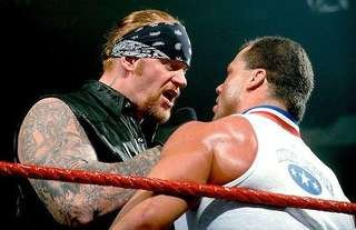 Undertaker choked out Angle in 2002
