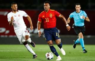 Adama Traore made his competitive debut for Spain versus Switzerland