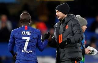 Frank Lampard and N'Golo Kante at Chelsea