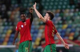 Diogo Jota was involved in all three of Portugal's goals vs Sweden