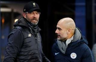 Klopp and Guardiola are on the PL's best manager list
