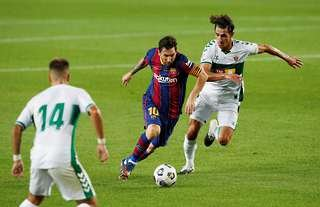 Lionel Messi in action against Elche