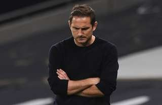 Frank Lampard looks frustrated