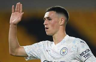 Phil Foden in action for Manchester City