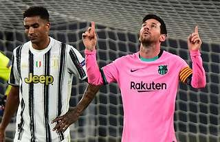 Lionel Messi scored in Barcelona's 2-0 win over Juventus