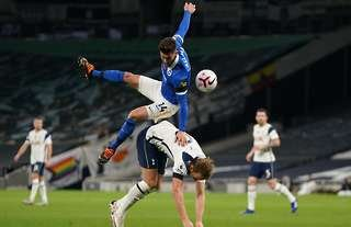 Was this a foul by Adam Lallana on Harry Kane?