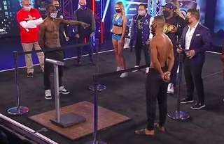 Kell Brook was on top form at the weigh-in