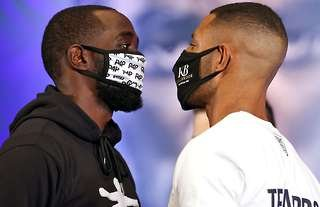 Terence Crawford and Kell Brook face-off
