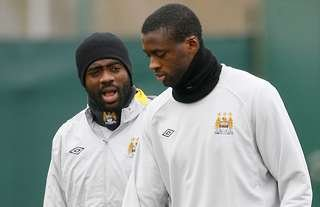 Kolo & Yaya Toure played together at Manchester City