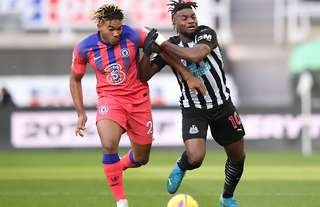 Reece James in action for Chelsea vs Newcastle