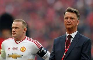 Wayne Rooney and Louis van Gaal