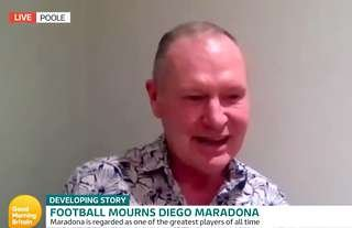 Paul Gascoigne paid tribute to Diego Maradona on Good Morning Britain