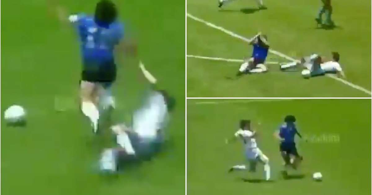 Video of England fouling Diego Maradona during 'Hand of God' game in 1986 has gone viral