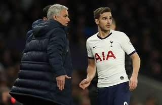 Jose Mourinho and Harry Winks
