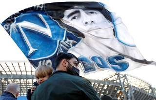 Napoli fans remember club legend Diego Maradona after his passing.