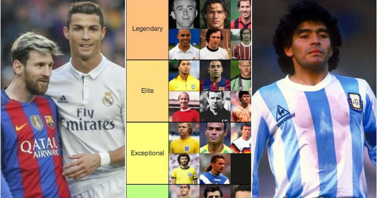 Ranking the greatest football players of all time from 'GOAT' to 'not in the conversation'