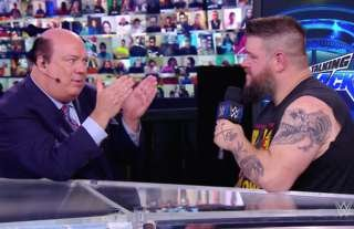 Owens and Heyman had an exchange on WWE Talking Smack
