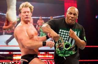 Jericho took a punch from Tyson in WWE