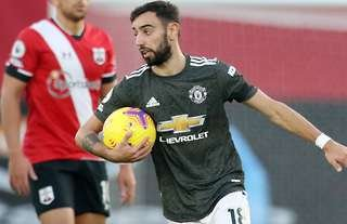 Bruno Fernandes in action against Southampton