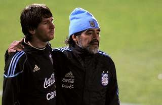 Lionel Messi & Diego Maradona - two left-footed geniuses