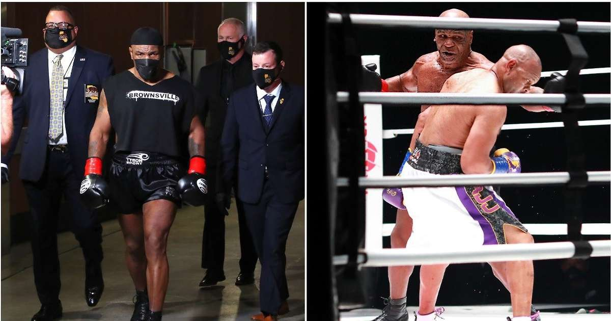 Mike Tyson vs Roy Jones Jr: Iron Mike was 'attacked' by fan after exhibition fight - GIVEMESPORT