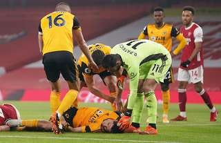 Raul Jimenez is recovering in hospital after fracturing his skull