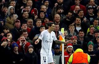 Angel Di Maria returned to Old Trafford with PSG in 2019