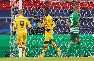 Ousmane Dembele scored and assisted in Barcelona's 3-0 win over Ferencvaros