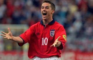 Michael Owen in action for England in 2000
