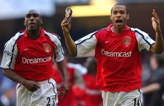 Thierry Henry and Sol Campbell