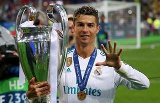 Cristiano Ronaldo won four Champions League titles with Real Madrid