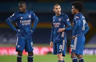 Nicolas Pepe, Dani Ceballos and Willian