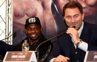 Dillian Whyte and Eddie Hearn