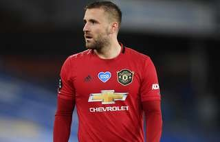 Luke Shaw in action for Man United