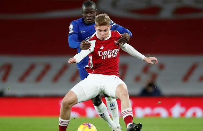 Arsenal 3 1 Chelsea Emile Smith Rowe Nutmegs N Golo Kante In Superb Individual Highlights Givemesport