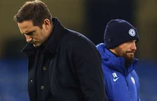 Chelsea manager Frank Lampard and assistant Jody Morris